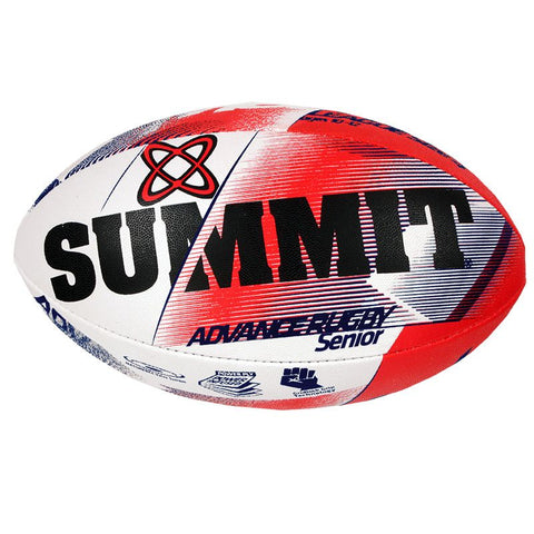Summit Advance Red Rugby Ball