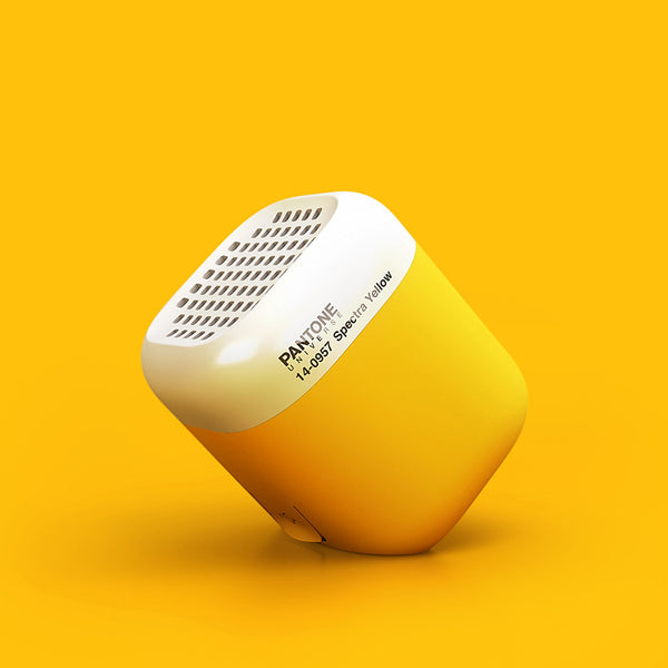 speakers yellow. qb s _v1 pantone wireless speaker - spectra yellow 14-0957 speakers