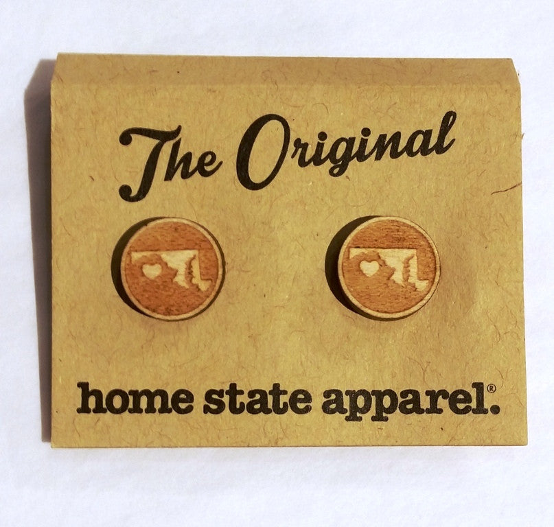Home State Apparel® - Heart Post Earrings