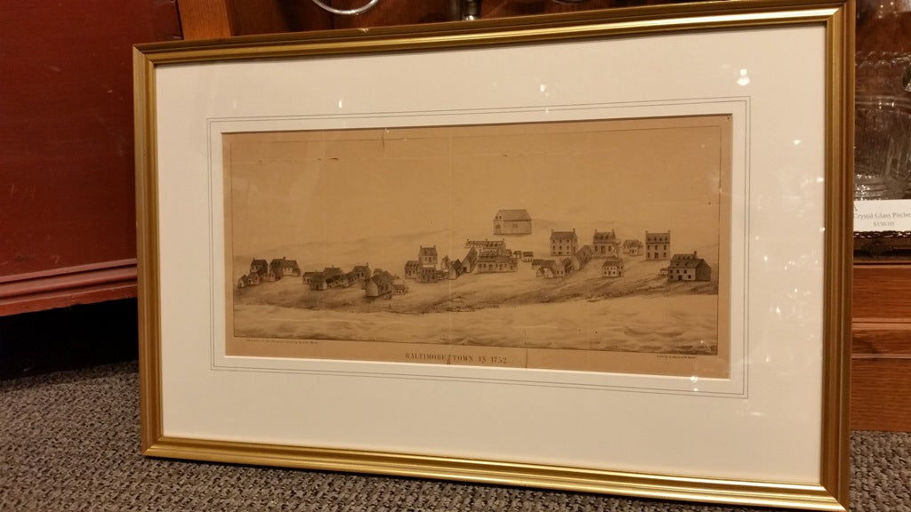 "Framed Print ""Baltimore in 1752"" Reproduction"