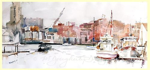 Set of 12 Small Note Cards - Baltimore Harbor