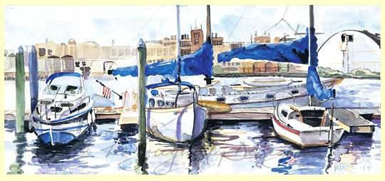 Set of 6 Large Note Cards - Scenes of Baltimore