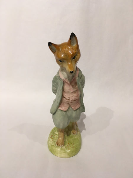 Beatrix Potter Porcelain Fox Figurine