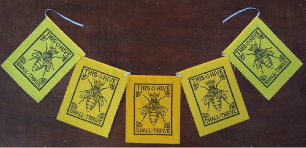 "Flag Banner - Decorative ""Bees"""