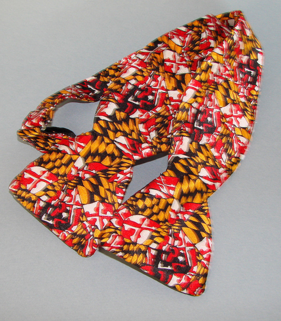 Maryland Flag Design Bow Tie
