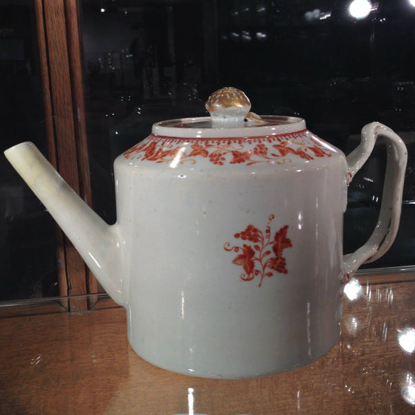 Chinese Export Drum Teapot