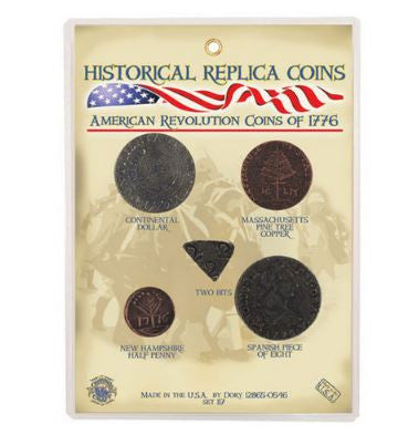 Replica Coin Set - American Revolution Coins 1776