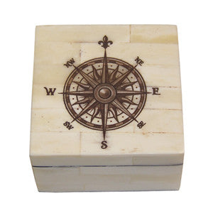 Keepsake Box - Compass Rose, Sepia