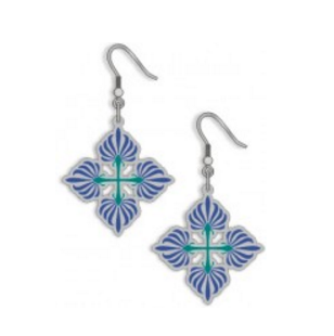 Cotton Boll Quilt Earrings