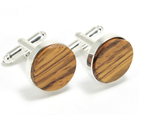 Cufflinks, Zebra Wood