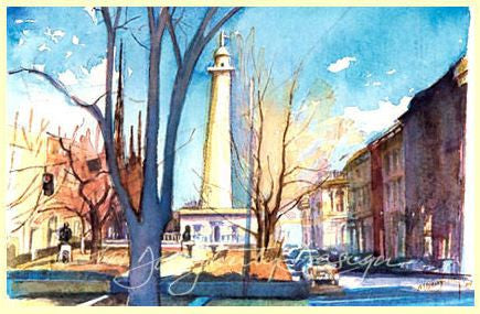 Set of 12 Small Note Cards - Historic Mt. Vernon Square