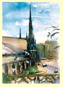 M.Dougherty Watercolor Print - Mt. Vernon Methodist Church