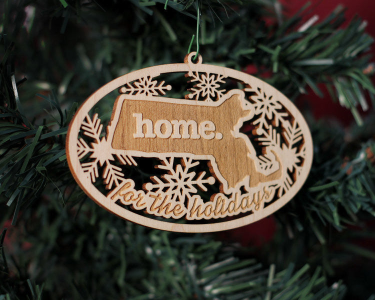 Home State Apparel Wooden Ornament