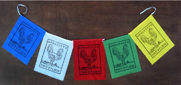 "Flag Banner - Decorative ""Roosters"""