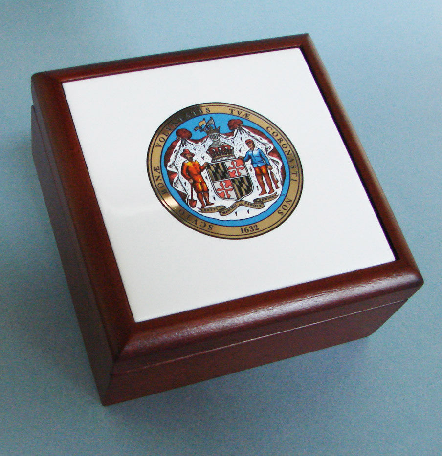 Maryland Seal Wooden Keepsake Box