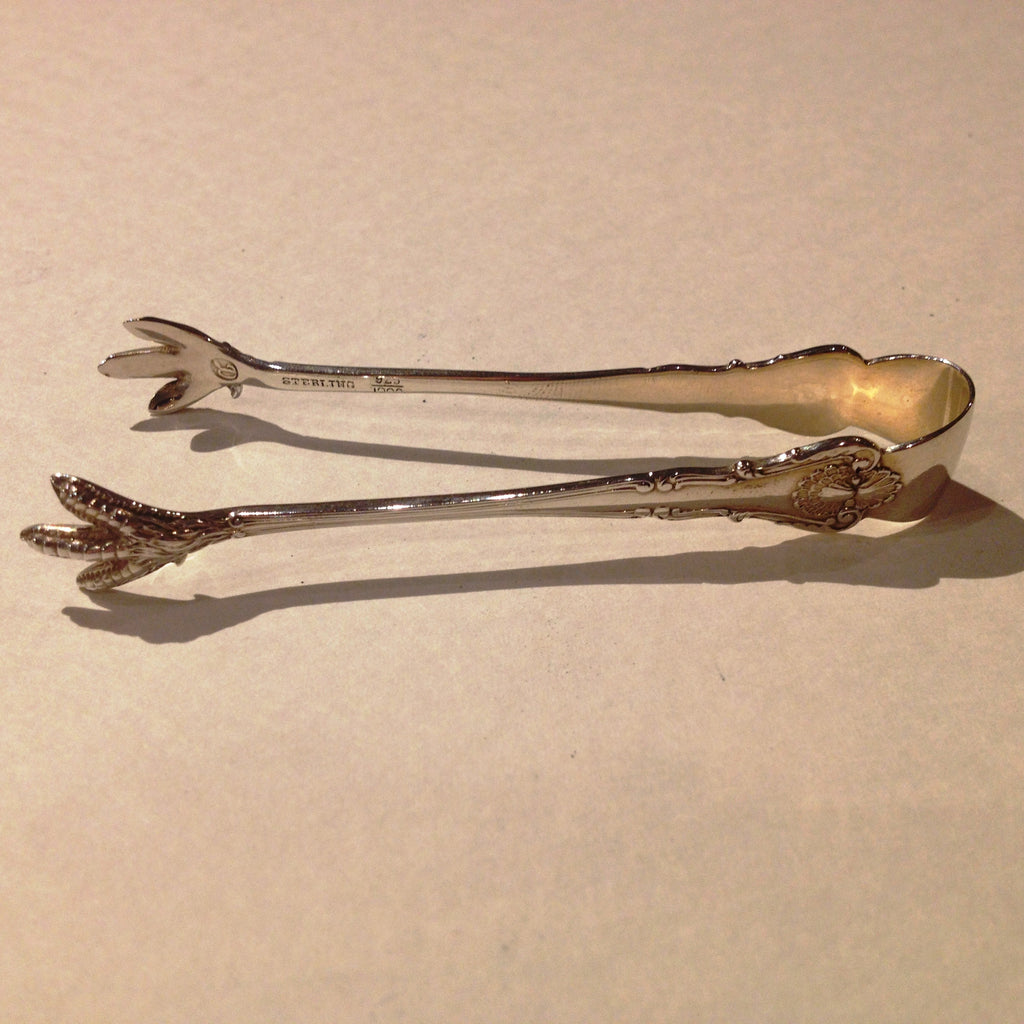 Sterling, Claw Foot Sugar Tongs
