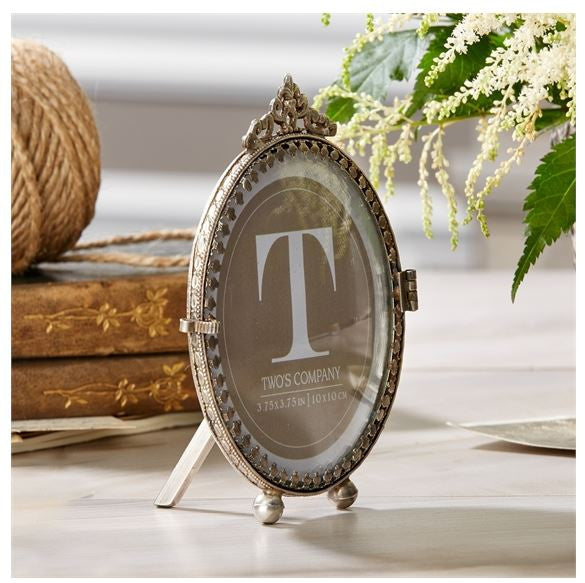 Antiqued Curved Photo Frame