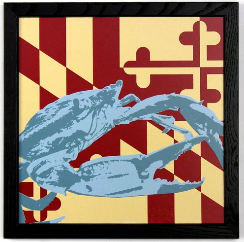 Silk-Screened Maryland Prints by Charlie Barton