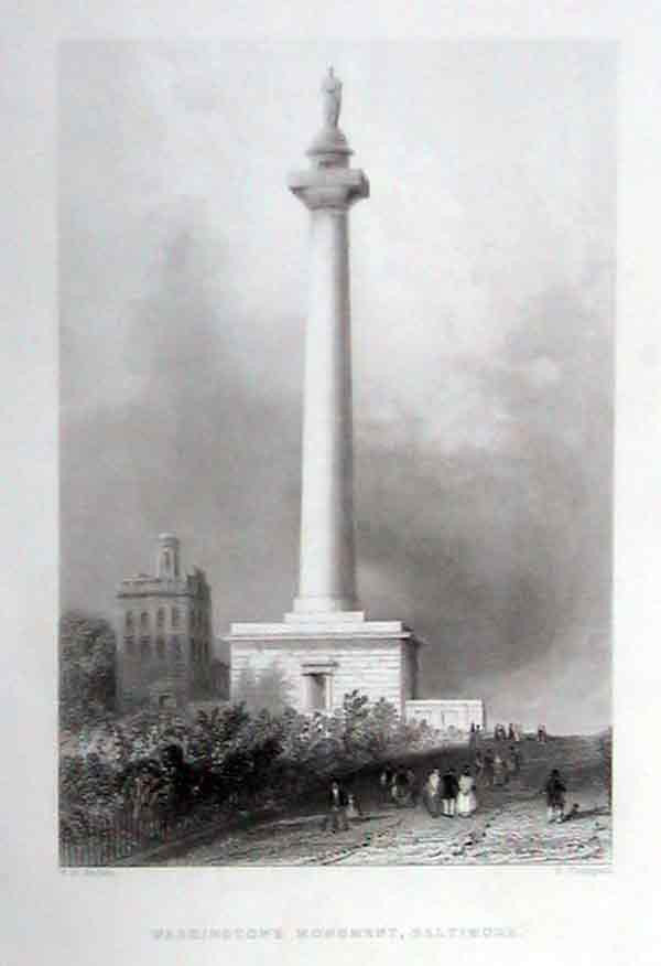 Washington's Monument by W.H. Bartlett