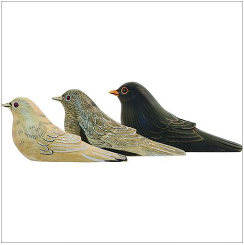 Wood Bird Doorstop, Assorted