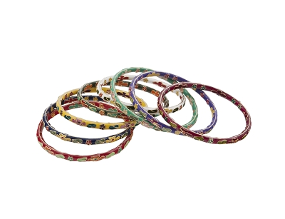 Cloisonne Bangles, Assorted