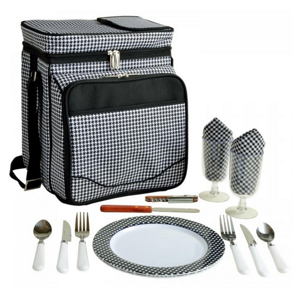 Equipped Picnic Cooler for Two, Assorted Colors