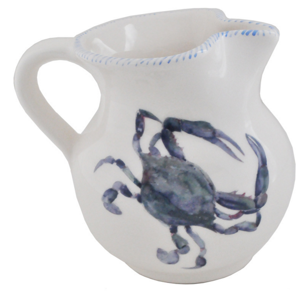 Blue Crab Small Pitcher