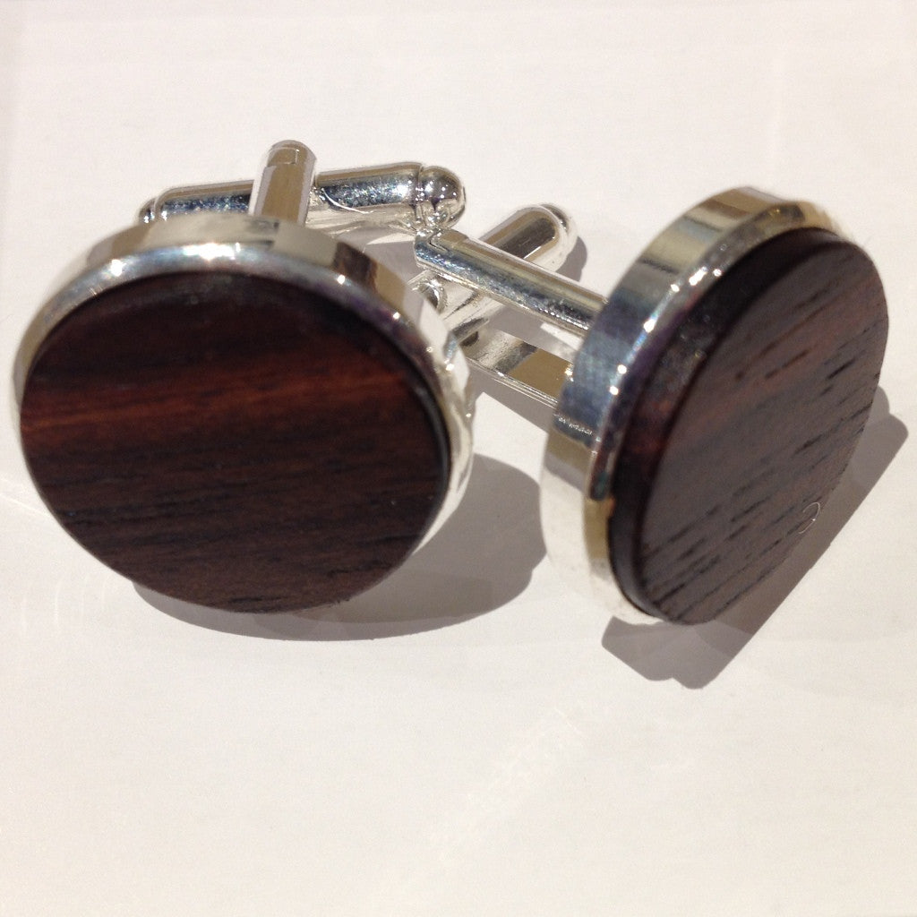 Cufflinks, Ebony Wood