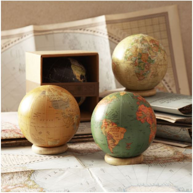 Decorative World Globe in Gift Box, Assorted