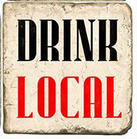 """Drink Local"" Marble Coaster"