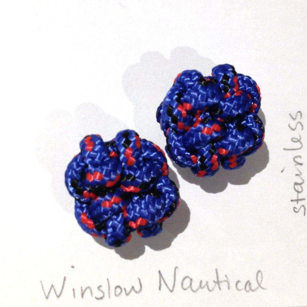 Paracord Stud Earrings, Large