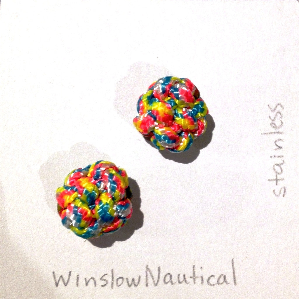 Paracord Stud Earrings, Small