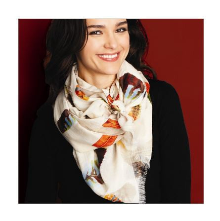 Falling Feathers Scarf, Assorted