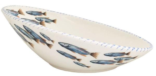 Fish Oval Serving Bowl, Large