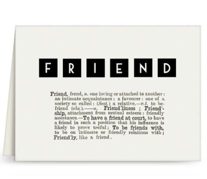 Dictionary Greeting Card - Friend