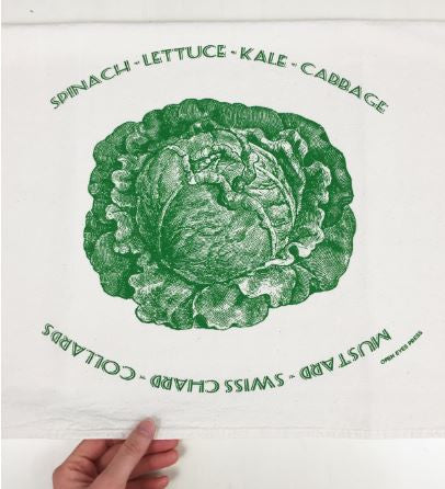 Garden Greens Tea Towel