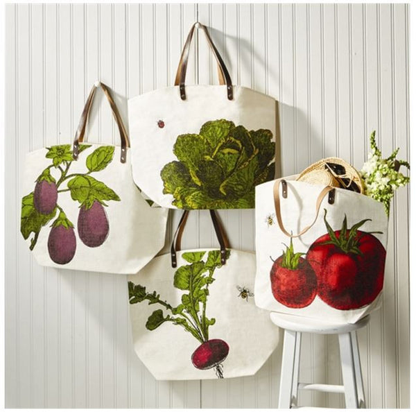 Farm-to-Table Market Vegetables Tote Bag, Assorted