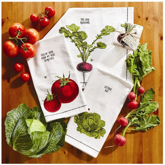 Farm-to-Table Vegetables Dish Towel & Crate