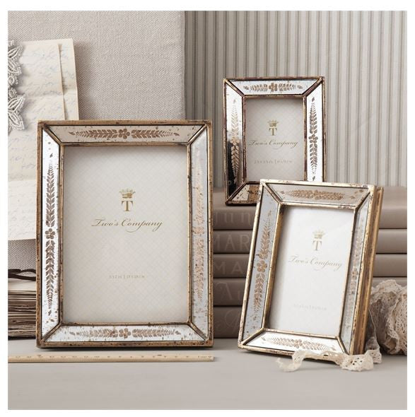 Gold Leaf Mirror Photo Frame, Assorted