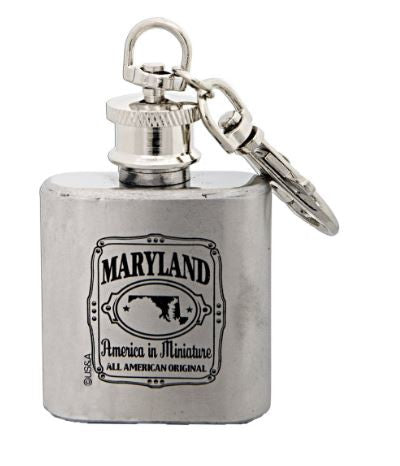 Key Ring - Stainless Maryland Flask