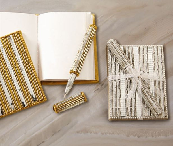 Metallic Mini Notebook with Pen
