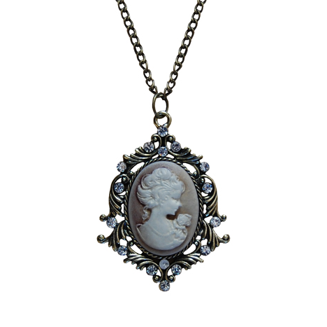 Cameo Necklace, Bronze