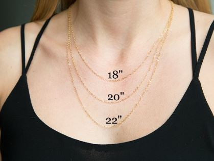 "Family Tree Necklace (18""), Silver or Gold"