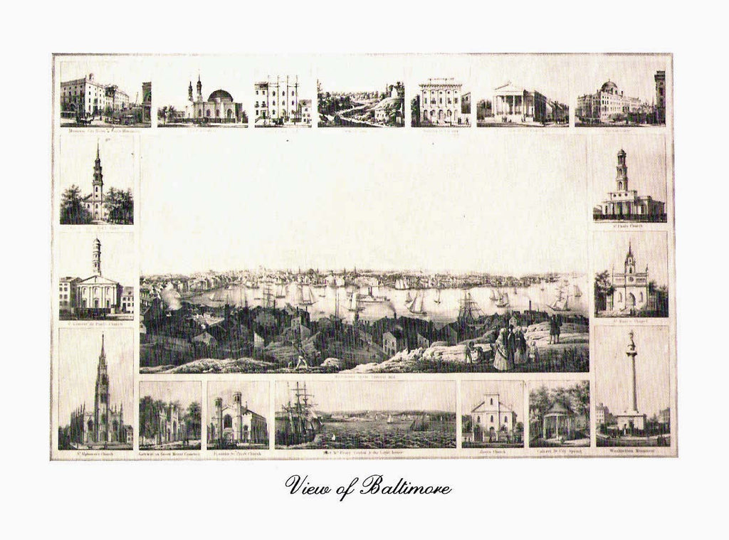 Note Cards Set - View of Baltimore
