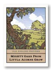 Arts & Crafts Press Single Notecard - Mighty Oaks