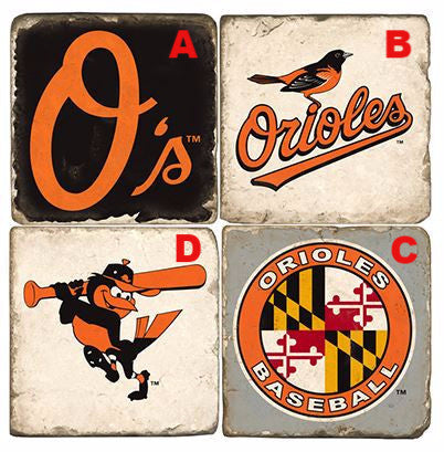 Orioles Marble Ornament, Assorted