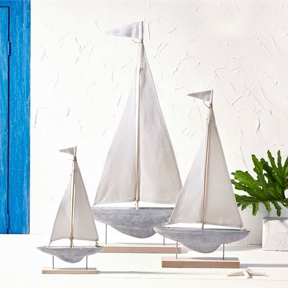 Sailboat Sculptures on Stand, Assorted