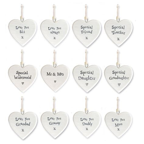 Small Heart Shaped Ornament, Assorted