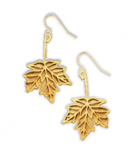 Sugar Maple Fall Leaf Earrings