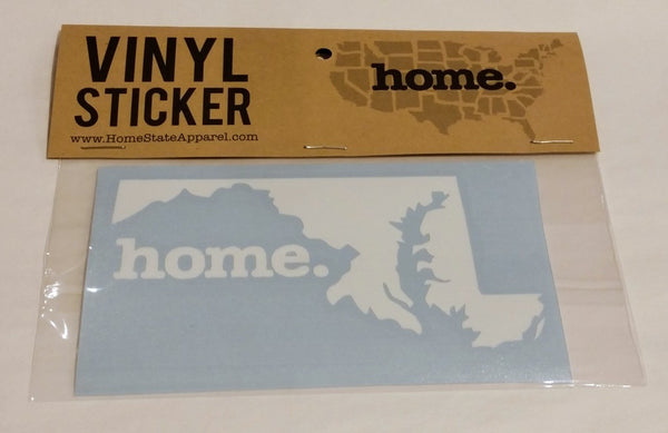 Home State Apparel® - MD Home Vinyl Decal
